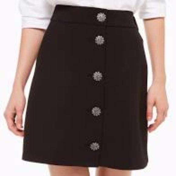 kate spade Dresses & Skirts - NWT Kate spade jewel button skirt size 8